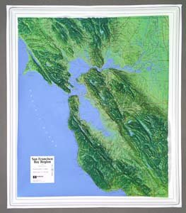 Hubbard Scientific Raised Relief Map K-SF2225 San Francisco Bay