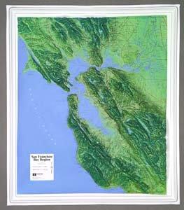 (Hubbard Scientific Raised Relief Map K-SF2225 San Francisco Bay)