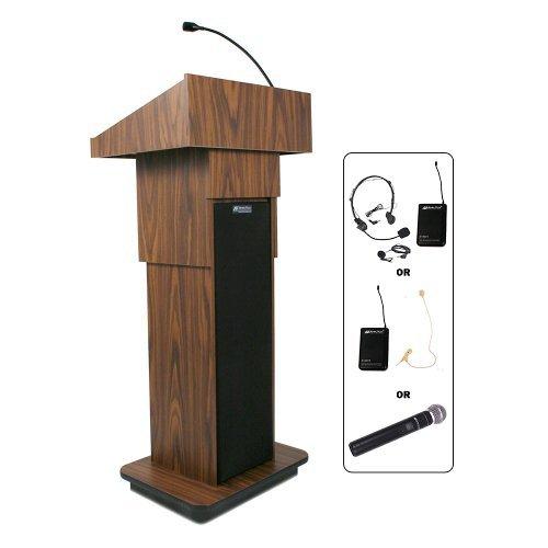 Light Oak Lectern - Amplivox Wireless Executive Adjustable-Height Sound Column Lectern - Light Oak - Light Oak
