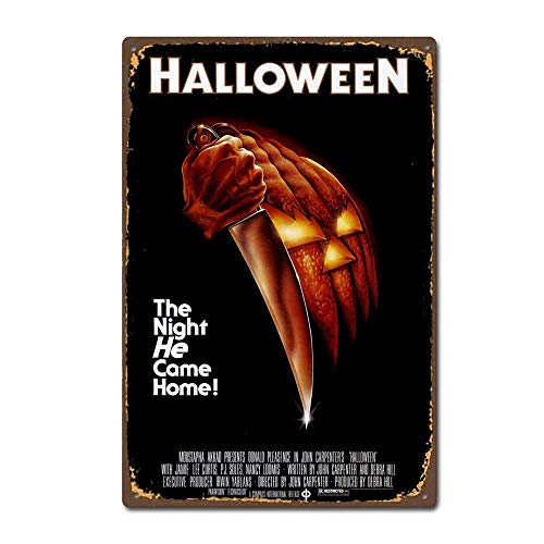 Lilyanaen New Metal Sign Aluminum Sign Halloween 1978 Horror Film Movie Vintage Retro Metal Sign 8 X 12 Inch ()