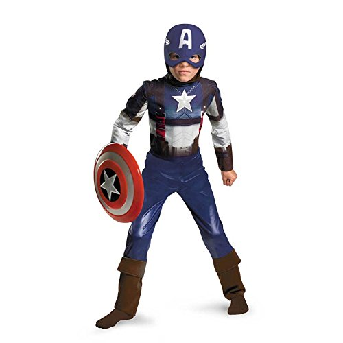 Captain America Movie Child Classic Costume - Large (10-12)