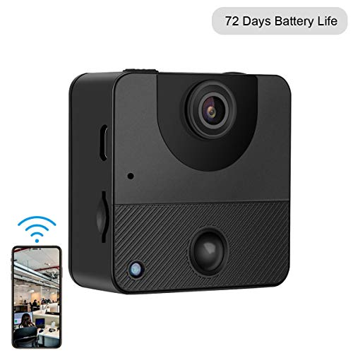 Spy Camera Wireless Hidden Camera Mini WiFi Security Camera 72 Days Standby with PIR Night Vision Motion Activated via iPhone Android app