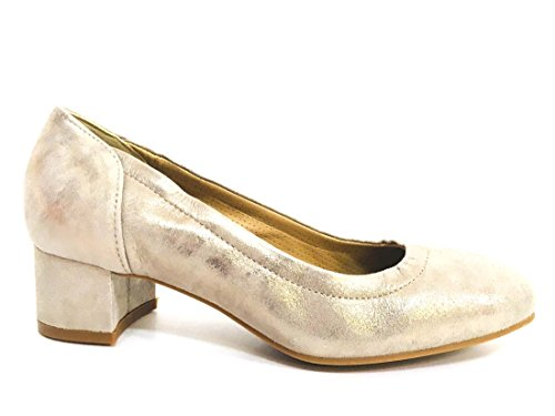IGI&Co 11643 Taupe Scarpa Donna decollete Tacco Basso Pelle Made In Italy