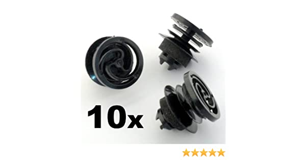 10 x Clips, remache plástico, Grapas - Tarjeta de la puerta interior y panel de ajuste de montaje Clip / sujetador: Amazon.es: Juguetes y juegos