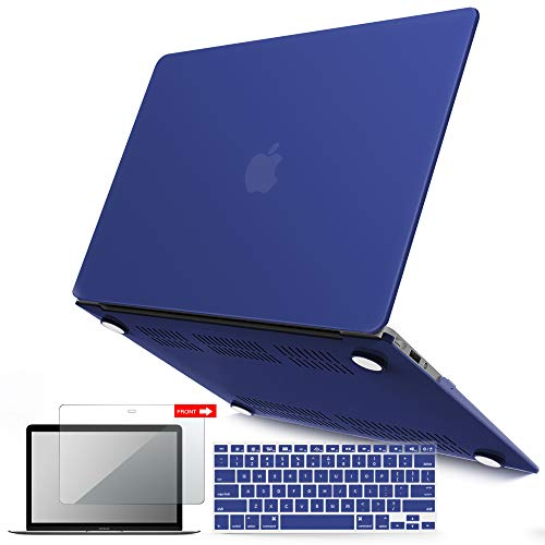 - iBenzer MacBook Air 13 Inch Case, Soft Touch Hard Case Shell Cover with Keyboard Cover Screen Protector for Apple MacBook Air 13 A1369 1466 NO Touch ID, Turkish Blue MMA13TUBL+2