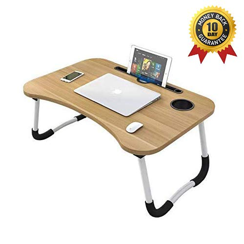 nufurn Multi-Purpose Foldable Laptop Table with Dock Stand and Cup Holder/Study Table/Bed Table/Foldable and Portable…