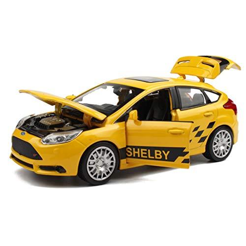 HBWJSH Modelo De Coche 1:32 Aleación De Simulación De Fundición A Presión Adornos De Juguete Colección De Autos Deportivos Joyería 14.5x5.5x5cm (Color : Yellow) por HBWJSH