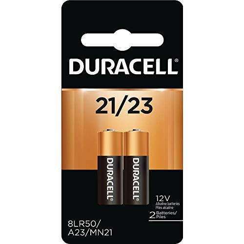 Duracell 12 Volt Alkaline Alarm Remote Battery MN21 / A23 2 Pack