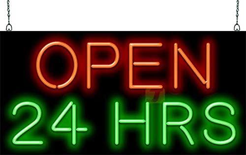 Open 24 Hours Neon Sign ()