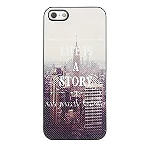 DUR Life is a Story Design Aluminium Hard Case for iPhone 4/4S
