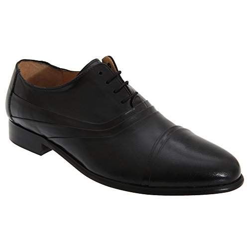 Shoes Mens Eye Classics Black Tie Folded Cap Oxford All Kensington 5 Leather pq6w1xv