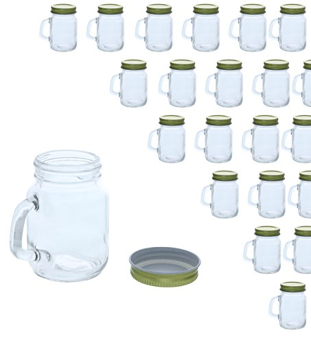 48 Pack Mini Mason Jars - Clear Jar Set with Gold Lids for Spices, Honey, Jam, Baby Food, Great DIY Gift for Wedding, Bridal Shower, and Baby Shower, 4 fl oz ()