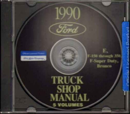 1990 FORD PICKUP BRONCO VAN REPAIR SHOP MANUAL CD Super Duty F150 F250 ()