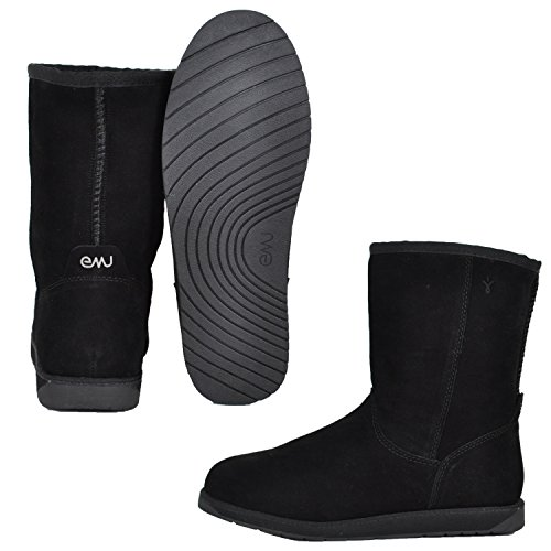 Emu Australia Women Spindle Lo Black Winter Boots 8 M Us
