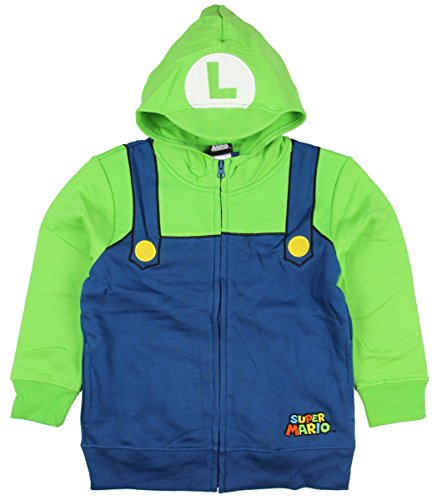 Nintendo Boy's Luigi Bill, Dark Blue/Kelly Green, Medium (Mario And Luigi Costumes Kids)