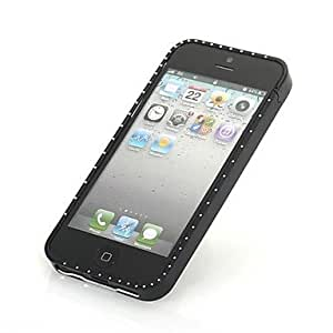 Ultra Thin 0.5mm Metal Aluminum Case for IPhone 5/5S Bumper Frame with Soft Mat in Four Angles , Black