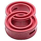 AUTUT 2 Pcs Universal Type-E Red Car Rubber Shock Absorber Spring Bumper Power Cushion Buffer