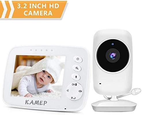 kabellose /Übertragung 2019 Zwei-Wege-Audio Multi-Kameras Digitalkamera Temperatursensor und Schlaflieder neue Version Kamep Video-Baby-Monitor mit Nachtsicht 8,9 cm LCD-Display 2,4 GHz