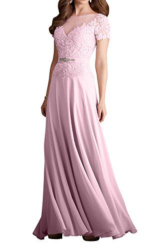 Rosa Spitze Brautmutter Damen Champagner Abendkleider Promkleider Charmant Partykleider Elegant Blau Dunkel Lang PYqAXq