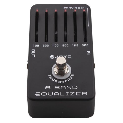 Joyo JF-11 6-Band Equalizer, Smooth Sliders and 18dB Boost / Cut by CBD Tenchology