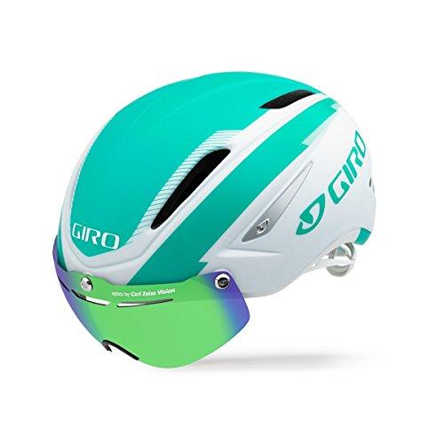 Giro Air Attack Shield Helmet-Matte White / Turquoise-L (Attack Shield)