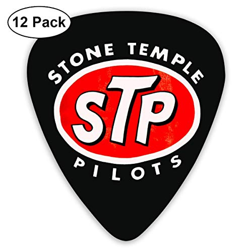ElijahO Stone Temple Pilots Logo Celluloid Guitar Picks Plectrums (12 Pack) for Electric Guitar, Acoustic Guitar, Mandolin, and Guitar Bass
