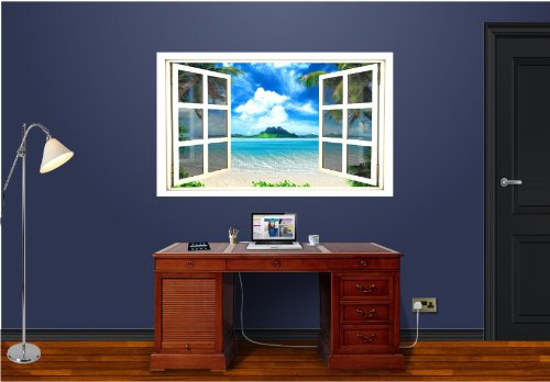 3D Window Wall Decal - Room with a View