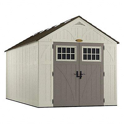 Suncast BMS8160 Tremont Resin Storage Shed, 16′ 3-1/4″ 8′ 4-1/2″