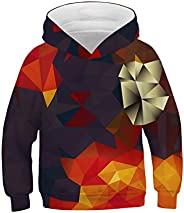 IYOWEL- 3D Printing Hoodies Boys Girls Sweatshirts Long Sleeve Sweater
