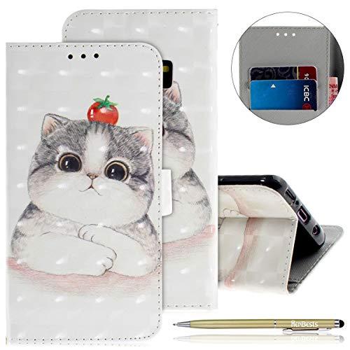Ultra Galaxy cartes En Mignon Rabat À Herbests Coque Chat S9 Choc Avec 1103 Etui Magnétique Motif Cuir Housse Anti Porte Mince qwx75TS