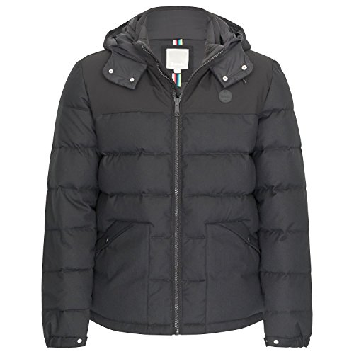 para Wool Negro Black Hombre Chaqueta Beauty Ma1010 Marl Bench Down Look Puffer wBdxOnqXF