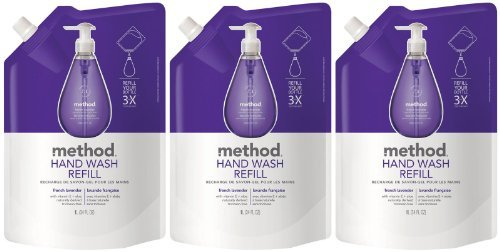 Method Gel Hand Wash Refill Pouch, French Lavender, 34oz, 3pk ()