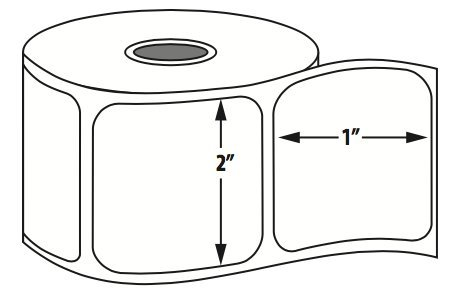 "Thermal Transfer Labels Fan (Advanced Labeling Systems 4"" x 2"" Thermal Transfer Fan Fold Face Slit)"