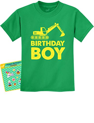 (Birthday Boy Gift Idea - Yellow Tractor Bulldozer Construction Party Kids T-Shirt 3T)