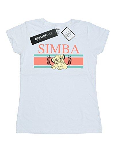 Femme Blanc The Stripes Simba shirt King Disney T Lion d8q5IwIH