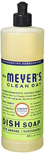 Mrs. Meyer's Clean Day Lemon Verbena Liquid Dish Soap 16 Oz (Pack of 3)