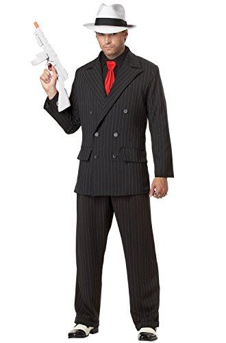 Great Gatsby Halloween Costumes Ideas (California Costumes Men's Mob Boss Adult, Black,)