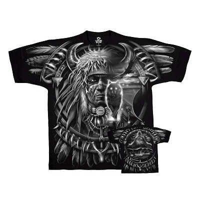 T-Shirt - Fantasy - Wolf Dreamcatcher Men's Black Size 4XL