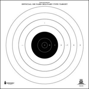 NRA 100 YARD RIFLE RAPID FIRE TARGET 100 PACK by Law Enforcement Targets