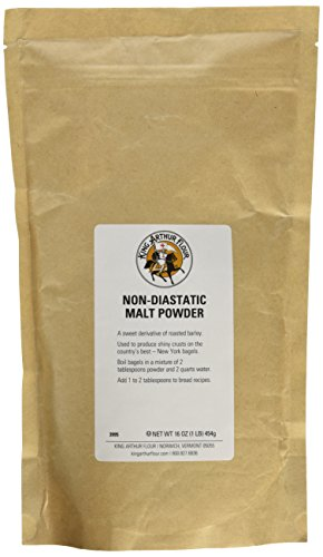 King Arthur Flour Non-Diastatic Malt Powder, Kosher - 16 Ounce Bag