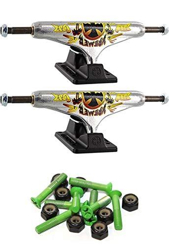 独立ステージ 11-149mm 中空 オールデイ 標準 5.87インチ スケートボード トラック 1インチ グリーン取り付け金具付き   B07GTHPWM6