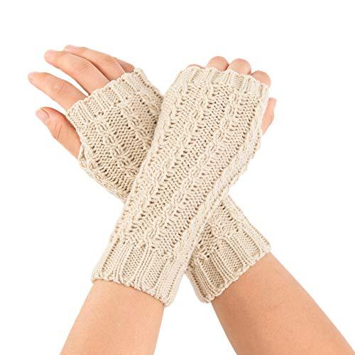 Christmas Decoration Hot Sale!!Kacowpper Women Winter Wrist Arm Warmer Solid Knitted Short Fingerless Gloves Mitten -