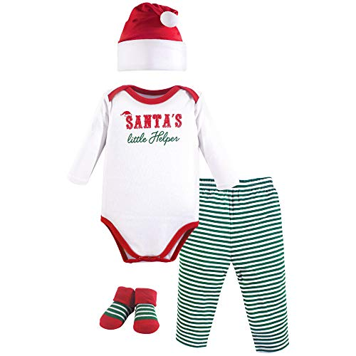 - Hudson Baby Baby Holiday Clothing Gift Set, 4 Piece, Santa's Helper, 0-6 Months