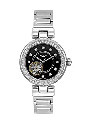Rotary Watches Womens Black Dial Stainless Steel Round Face Bracelet Watch LB90072/13