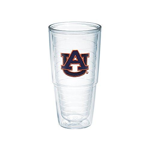 Auburn Tigers Cups - Tervis 1007077 Auburn University Emblem Individual Tumbler, 24 oz, Clear