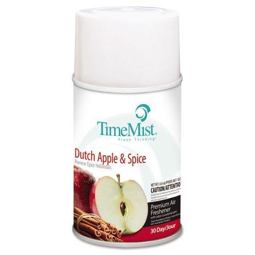TimeMist Metered Aerosol Fragrance Dispenser Refills, Dutch Apple & Spice, 6.6 oz - Includes 12 per case. ()