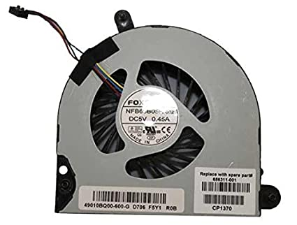 New CPU Cooling Fan For HP Probook 6570B Elitebook 8570P P/N: 686311-001  4-wire