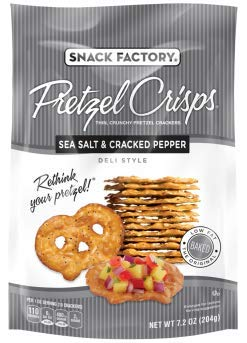 Snack Factory Deli Style Crunchy Pretzel Cracker Crisps, 8 Flavor Variety Pack, 7.2 Ounce Bags (Pack of 16) by Snack Factory (Image #4)