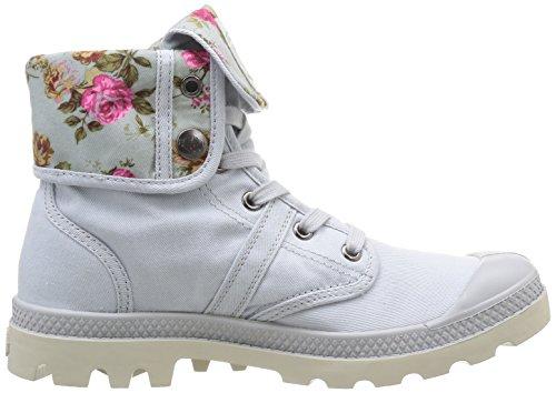 Palladium Baggy Twl - Botas de canvas mujer gris - Gris (Lunar/Flower)