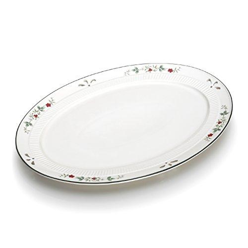 Winterberry Appetizer Plate - Pfaltzgraff Winterberry Oval Platter (15-3/4-Inch)